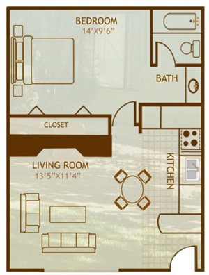 1 Bedroom / 1 Bathroom